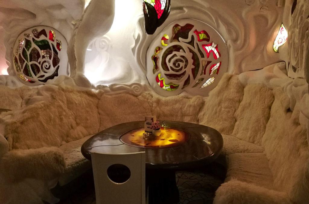 Wnętrze restauracji Absynt - loża