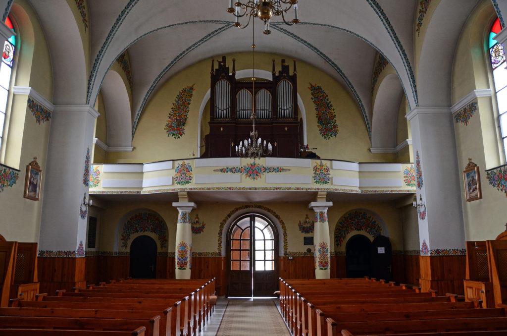 Zalipie - wnętrze kościoła świętego Józefa Oblubieńca