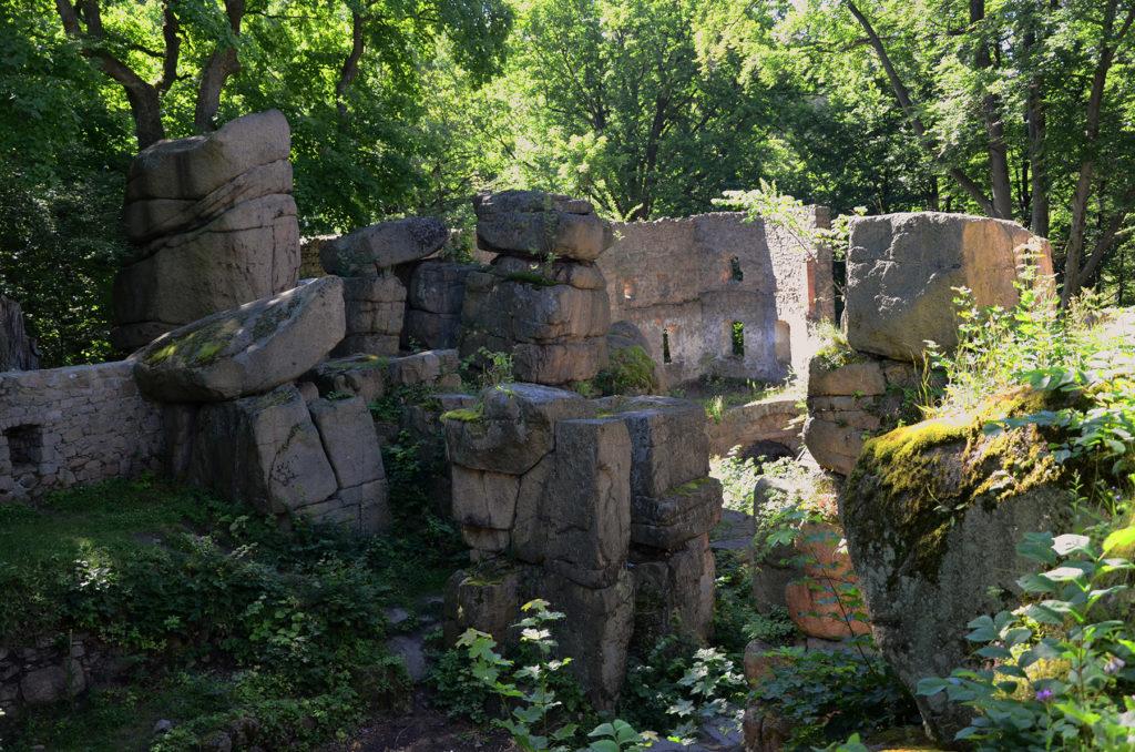Zamek Bolczów - w ramionach zieleni
