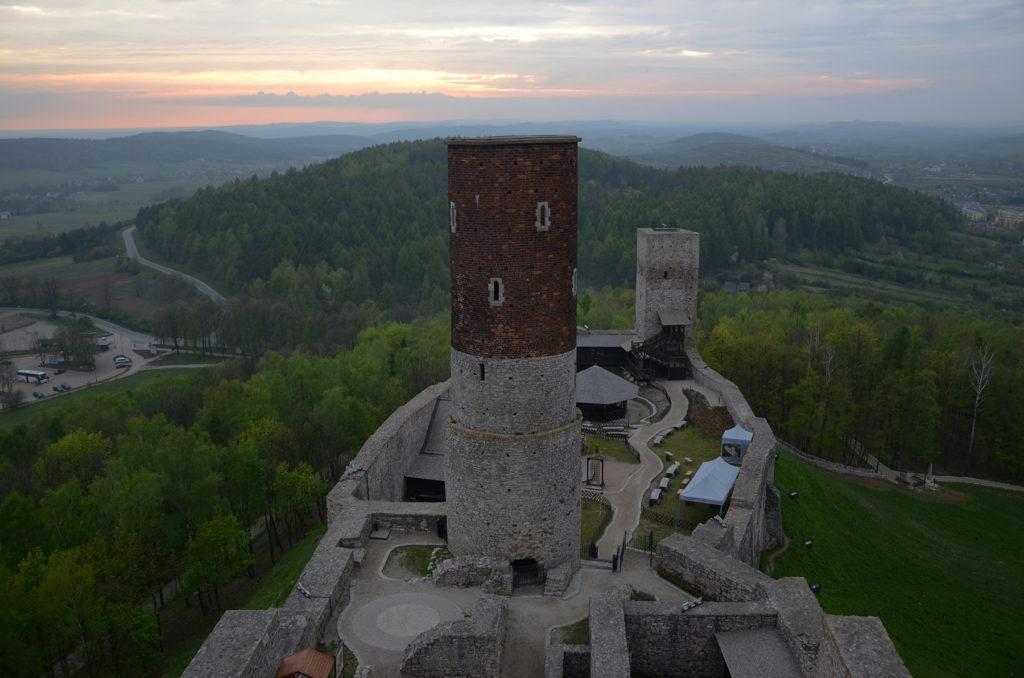 Zamek w Chęcinach - widok z wieży widokowej