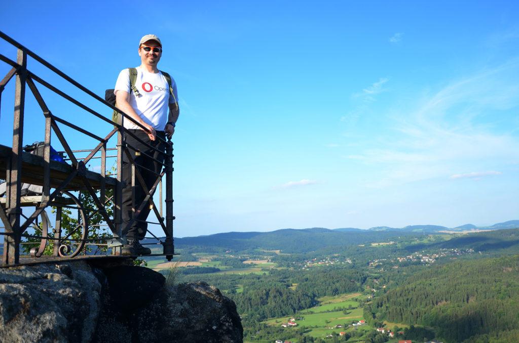 Sokoliki - widok w kierunku Gór Kaczawskich