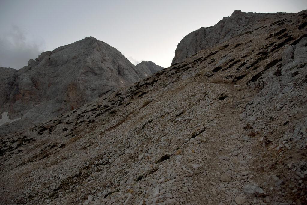 Ścieżka na Kradericę - szlak na Triglav