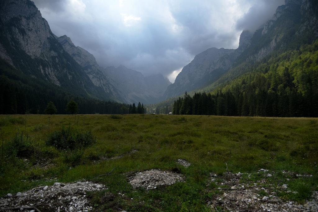 Dolina Krma w stronę parkingu Pri lesi