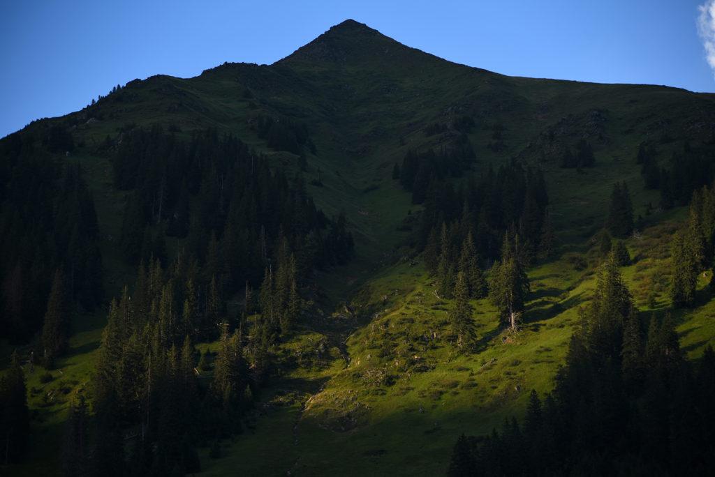 Jeden ze szczytów w Parku Krajobrazowym Sölktäler