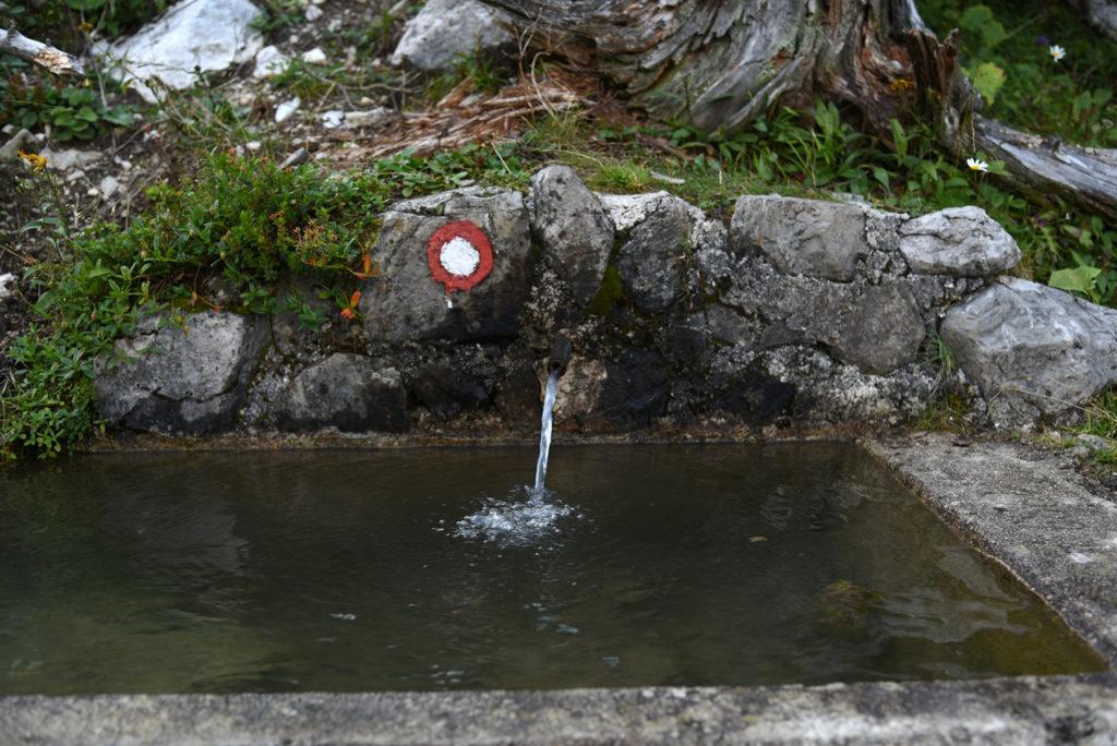 Poidło dla zwierząt - szlak na Triglav