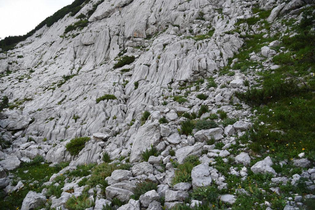 Spękane skały - szlak na Triglav