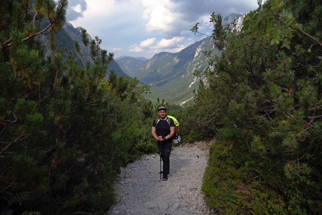 Widok na dolinę Krma - szlak na Triglav