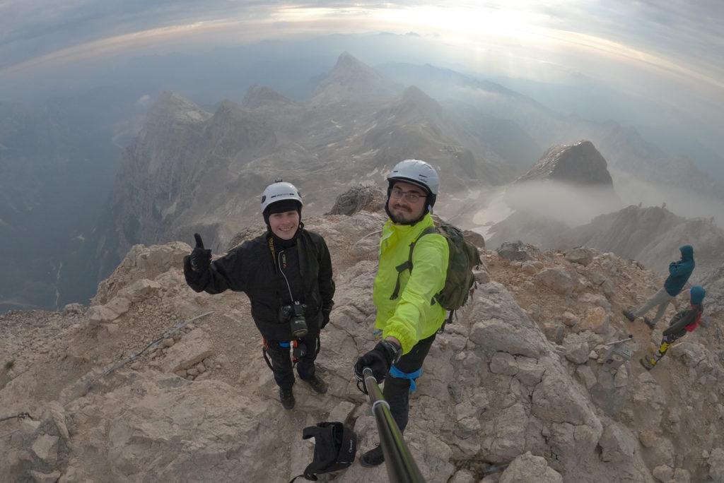 Widok ze szczytu Triglav w stronę północno-wschodnią