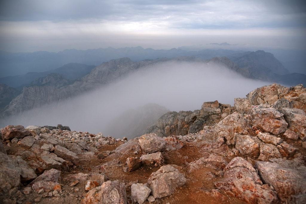 Widok ze szczytu Triglava w stronę południową